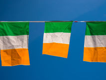 Irlandia flaga zieleni bielu Tricolour pomarańcze Obraz Stock
