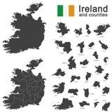 Irlandia i okręgi administracyjni Obrazy Royalty Free