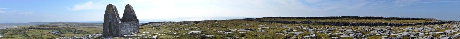 Irlandia mały kościół w światowej panoramie Obrazy Royalty Free