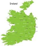 Irlandia mapa Zdjęcie Royalty Free