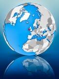 Irlandia na politycznej kuli ziemskiej obraz stock