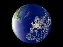 Irlandia na ziemi od przestrzeni zdjęcia stock