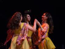 Irlandzcy tancerze wykonują przy muzyka na żywo klubem MI 16-03-2018 Zdjęcie Stock