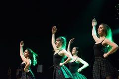 Irlandzcy tancerze wykonują przy muzyka na żywo klubem MI 16-03-2018 Zdjęcia Royalty Free