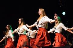 Irlandzcy tancerze wykonują przy muzyka na żywo klubem MI 16-03-2018 Obrazy Stock