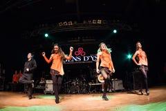 Irlandzcy tancerze wykonują przy muzyka na żywo klubem MI 16-03-2018 Fotografia Royalty Free