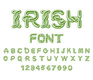Irlandzka chrzcielnica Krajowy Celtycki abecadło Tradycyjny Irlandia orname Obraz Royalty Free