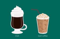 Irlandzka i Lukrowa Kawowa napój kreskówki ilustracja royalty ilustracja