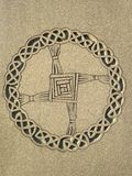 Irlandzki Celtycki okręgu wzór na Przecinającej statui Fotografia Royalty Free