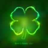Irlandzki shamrock na zielonym tle Obrazy Stock