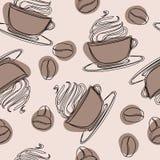 Irlandzki szklany kubek z słomą wypełniał zimno glace Zazębiony orzeźwianie napój z kofeiną Kawa z ryza polanym czekoladowym syru royalty ilustracja