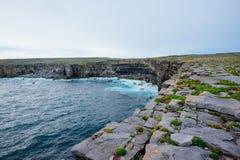 Irlandzkie falezy, Aran wyspy Zdjęcie Royalty Free
