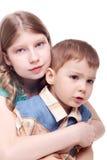 Irmã e irmão Foto de Stock Royalty Free