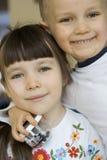 Irmã e irmão Imagem de Stock
