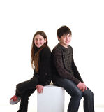 Irmão e irmã Fotografia de Stock