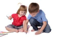 Irmão e a irmã Imagens de Stock