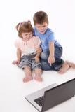 Irmão e a irmã Fotografia de Stock Royalty Free