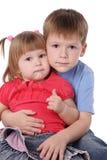 Irmão e a irmã Foto de Stock Royalty Free