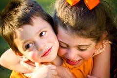 Irmão e irmã Fotos de Stock