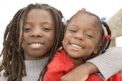 Irmão e irmã Imagem de Stock Royalty Free
