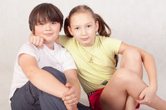 Irmão e irmã Foto de Stock Royalty Free