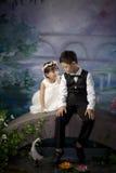 Irmão e irmã chineses Foto de Stock