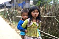 Irmão e irmã de Vietname fotos de stock royalty free