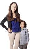 Irmão e irmã ou baby-sitter com menino Foto de Stock Royalty Free