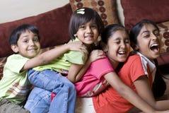 Irmão e irmãs junto foto de stock royalty free