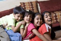 Irmão e irmãs junto imagem de stock royalty free
