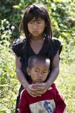 Irmão Laos da irmã Fotografia de Stock Royalty Free