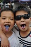 Irmãos asiáticos Imagens de Stock Royalty Free