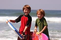 Irmãos da praia Imagens de Stock
