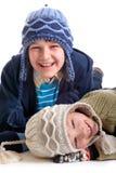 Irmãos felizes Fotografia de Stock Royalty Free