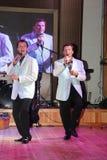 irmãos gêmeos Alexander e Eugene Anufriev dos atores da Em-fase fotos de stock