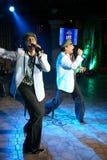irmãos gêmeos Alexander e Eugene Anufriev dos atores da Em-fase imagem de stock