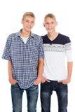 Irmãos gêmeos novos Fotografia de Stock