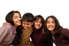 Irmãos indianos e três irmãs Imagens de Stock Royalty Free