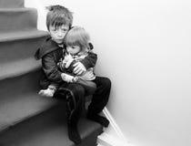 Crianças viradas Foto de Stock