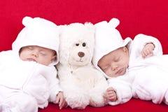 Irmãs do gêmeo idêntico Fotografia de Stock