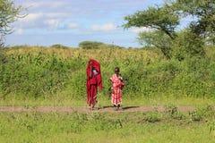 Irmãs do Masai, Tanzânia Foto de Stock Royalty Free