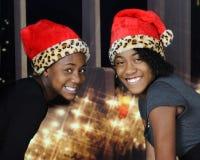 Irmãs do Natal feliz Foto de Stock Royalty Free