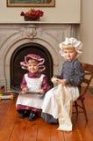 Irmãs do Victorian foto de stock royalty free