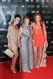 Irmãs e jogador de futebol Ronaldo da matriz. Imagens de Stock