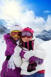 Irmãs em férias Imagens de Stock Royalty Free