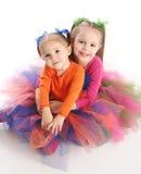 Irmãs em saias brilhantes do tutu Fotos de Stock