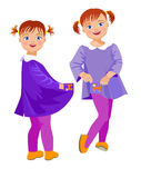 Irmãs engraçadas Foto de Stock Royalty Free