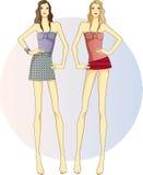 Irmãs - gêmeos ilustração do vetor