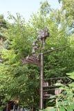 Irmãs Lumiere do ponteiro da escultura- em Svetlogorsk Imagens de Stock Royalty Free