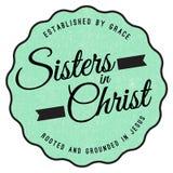 Irmãs no emblema de Cristo Foto de Stock